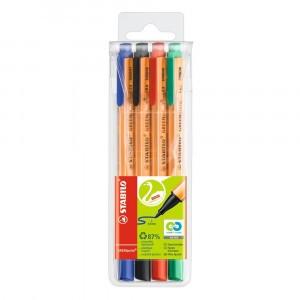 STABILO GREENpoint Viltstiftpen (4 kleuren)