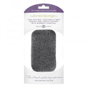 The Konjac Sponge co. Konjac, Loofah en Bamboo Charcoal Reinigingsspons Lichaam