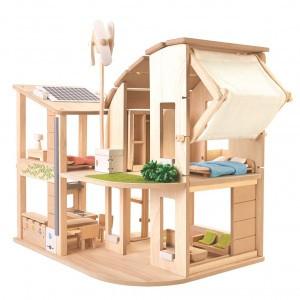 PlanToys Poppenhuis Eco met toebehoren