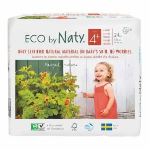 Naty Eco Wegwerpluiers Maat 4+ (24 stuks)