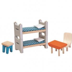 PlanToys Poppenhuis Kinderkamer