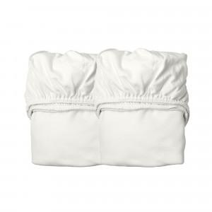 Leander Hoeslaken Babybed (60 x 120 cm) 2-pack, Snow