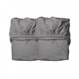 Leander Hoeslaken Babybed (60 x 120 cm) 2-pack, Cool Grey