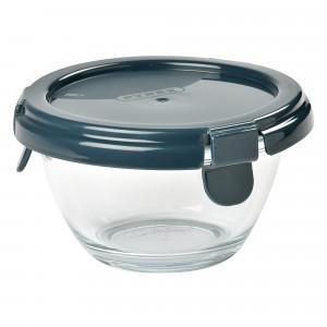 Beaba by Pyrex Glazen Bewaarpotje (200 ml) Donkerblauw