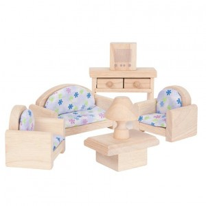 PlanToys Poppenhuis Woonkamer - Classic