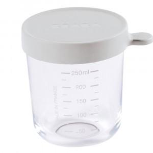 Beaba Glazen Bewaarpotje Mistgrijs (250 ml)