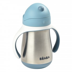 Beaba RVS Drinkbeker met rietje (250 ml) Windy Blue