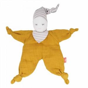 Kikadu Knuffelpopje Mustard