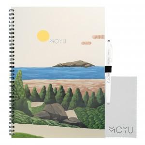 Moyu Uitwisbaar Notitieboek Ringband A4 - Bright Beach