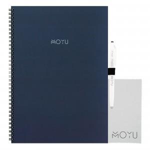 Moyu Uitwisbaar Notitieboek Ringband A4 - New Navy