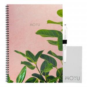 Moyu Uitwisbaar Notitieboek Ringband A4 - Pink Planter