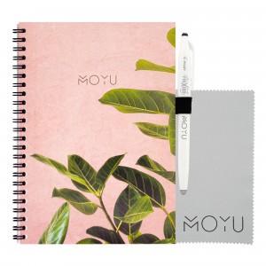 Moyu Uitwisbaar Notitieboek Ringband A5 - Pink Planter
