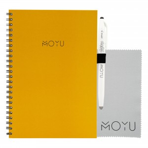 Moyu Uitwisbaar Notitieboek Ringband A5 - Young Yellow