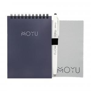 Moyu Uitwisbaar Notitieboek Notepad Ringband A6 - New Navy