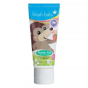 Brush Baby Baby en Peuter Tandpasta aardbei 50 ml 0-2 Jaar