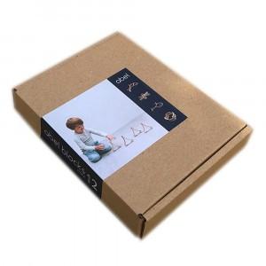 Abel Blocks Mini Houten Bouwblokken (12 stuks)