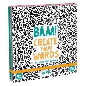 Londji Arts & Crafts BAM! 'Create Your Words' Stempelset Alfabet