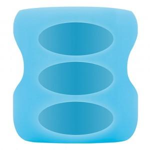 Dr. Brown's Beschermhoes Brede Hals Fles Glas (150ml) Blauw