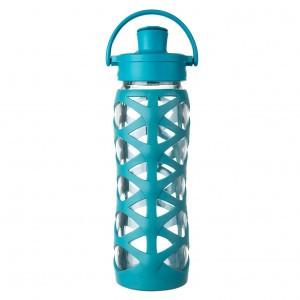 Lifefactory Glazen Drinkfles 475 ml Active Flip Cap - Aqua