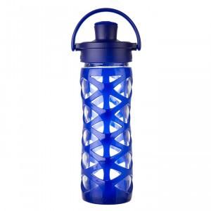 Lifefactory Glazen Drinkfles 475 ml Active Flip Cap - Donker Blauw