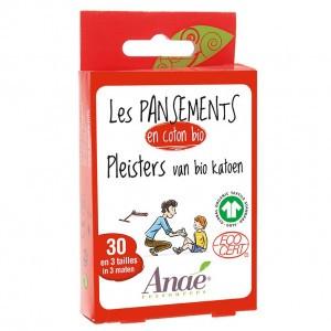 Anaé Pleisters van Biokatoen (30 stuks/ 3 maten)