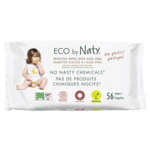 Naty Eco Vochtige doekjes (56 stuks) - Aloë Vera