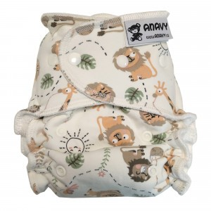Anavy One Size Luier met snaps Jungle Party (4-15 kg)