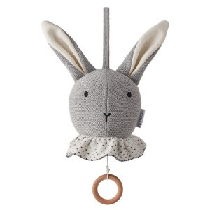 Liewood Muziekmobiel Knit Konijn Dumbo Grijs
