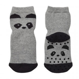 Liewood Antislip Sokjes Panda Grijs Melange