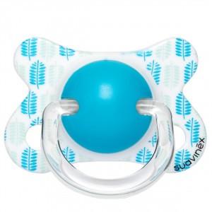 Suavinex Fopspeen Fusion Fysiologisch Silicone 0-4 maand Blaadjes Aqua