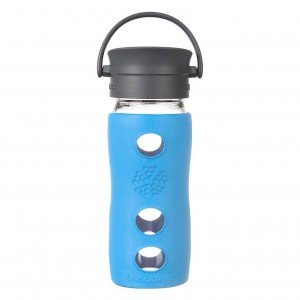 Lifefactory Glazen Thermos 350 ml - Aqua