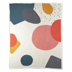 Mundo Melocoton Dekentje Organic Knitwear Jacquard Multi Color