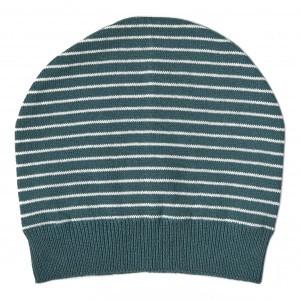Mundo Melocoton Muts Organic Knitwear Stripes La Linea Teal (Baby)