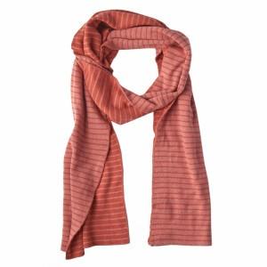 Mundo Melocoton Sjaal Organic Knitwear Stripes La Linea Blush + Chili (Kind)