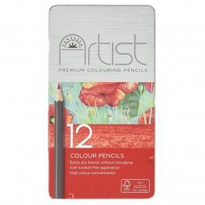 Fantasia Artist Blikken doos met kleurpotloden (12 stuks)