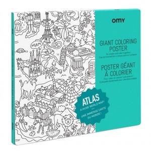 OMY Kleur Poster - Atlas