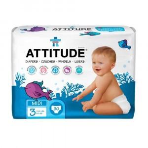 Attitude Baby Care Luier maat 3 (30 stuks)