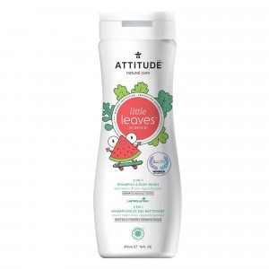 Attitude Little Leaves 2-in-1 Shampoo & Body Wash Watermeloen & Kokos (473 ml)