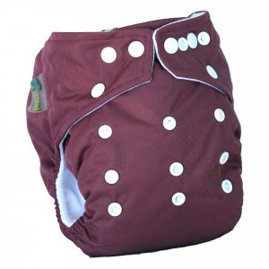 Little Lamb One Size Nappy Aubergine