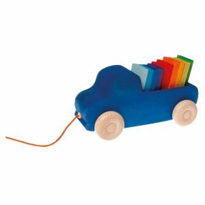 Grimm's Trekspeeltje Vrachtwagen Blauw