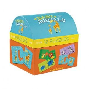 Crocodile Creek puzzel Babydieren (2 x 12 stukken)