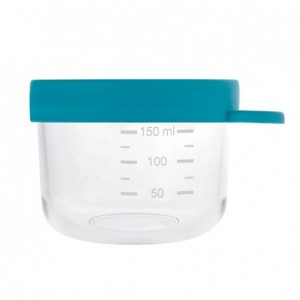 Beaba Glazen Bewaarpotje Blauw (150 ml)