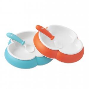 BabyBjörn Babybord met babylepel 2-Pack Oranje/Turquoise