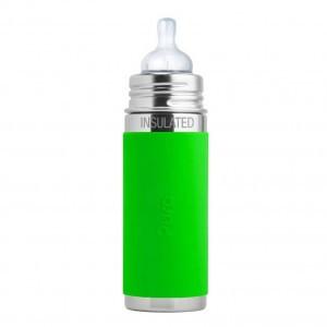 Pura Thermos Speenfles 260ml met Sleeve Groen