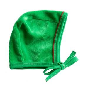 Mundo Melocoton Babymutsje Velours Groen-rood