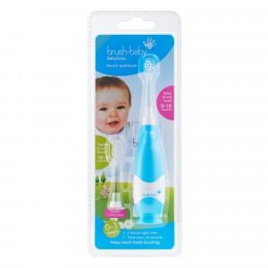 Brush Baby Sonic Elektrische Tandenborstel (+ 1 extra Tandenborstelkopje) Blue