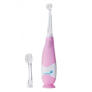 Brush Baby Sonic Elektrische Tandenborstel (+ 1 extra Tandenborstelkopje) Pink