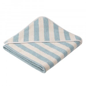 Liewood Badcape Alba Stripe Sea Blue/Sandy