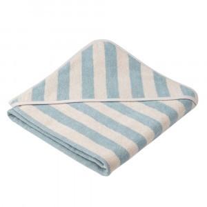 Liewood Badcape Alba Stripe Sea Blue/Sandy