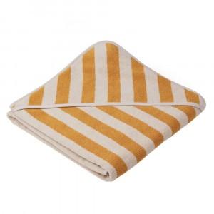 Liewood Badcape Alba Stripe Yellow Mellow/Sandy
